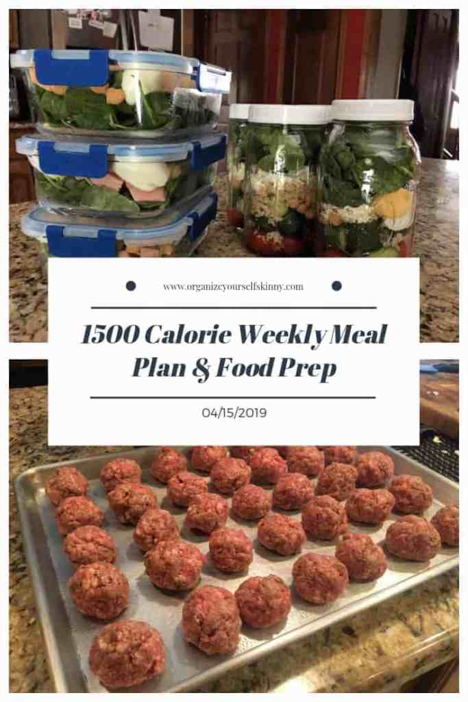 1500 calorie weekly meal plan and food prep