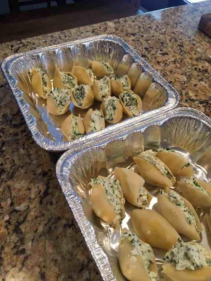 freeze stuffed shells