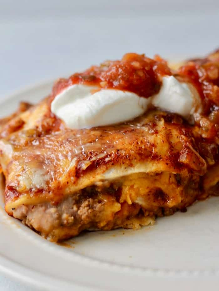 beef and beans enchiladas