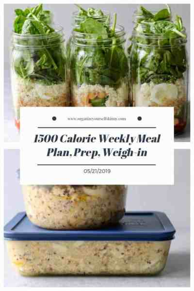 weekly 1500 calorie meal plan