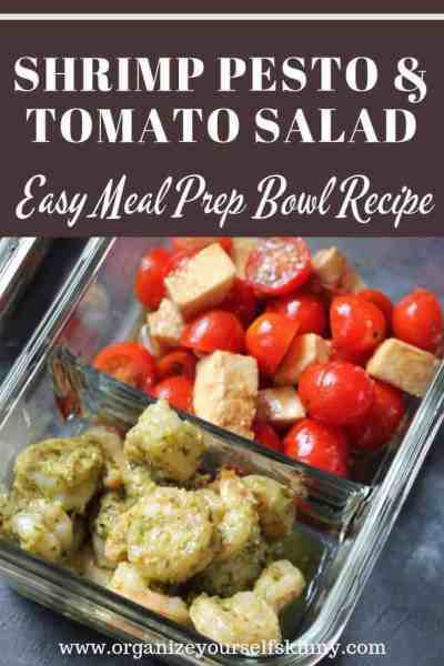 Shrimp Pesto & Tomato Salad Meal Prep Bowl