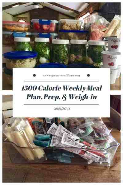 weekly meal plan, food prep, and weigh in