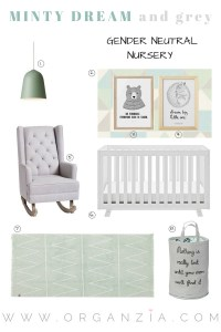 Mint and grey baby nursery inspiration