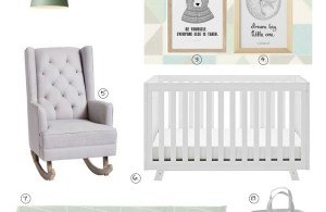 Mint and grey nursery inspiration