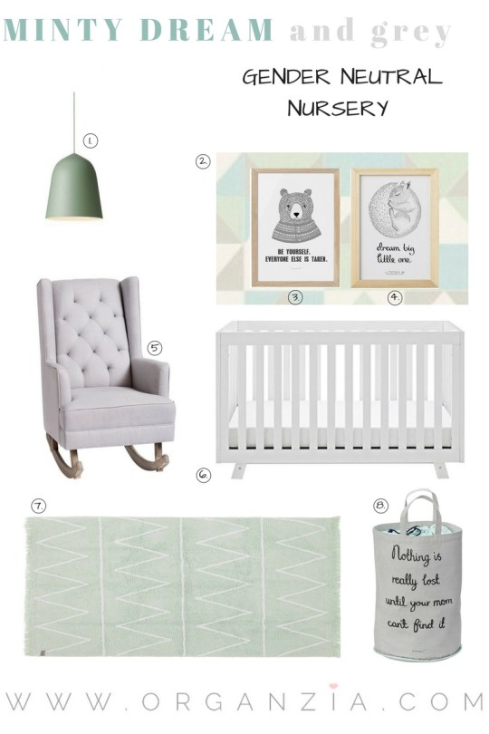 Mint and grey nursery inspiration