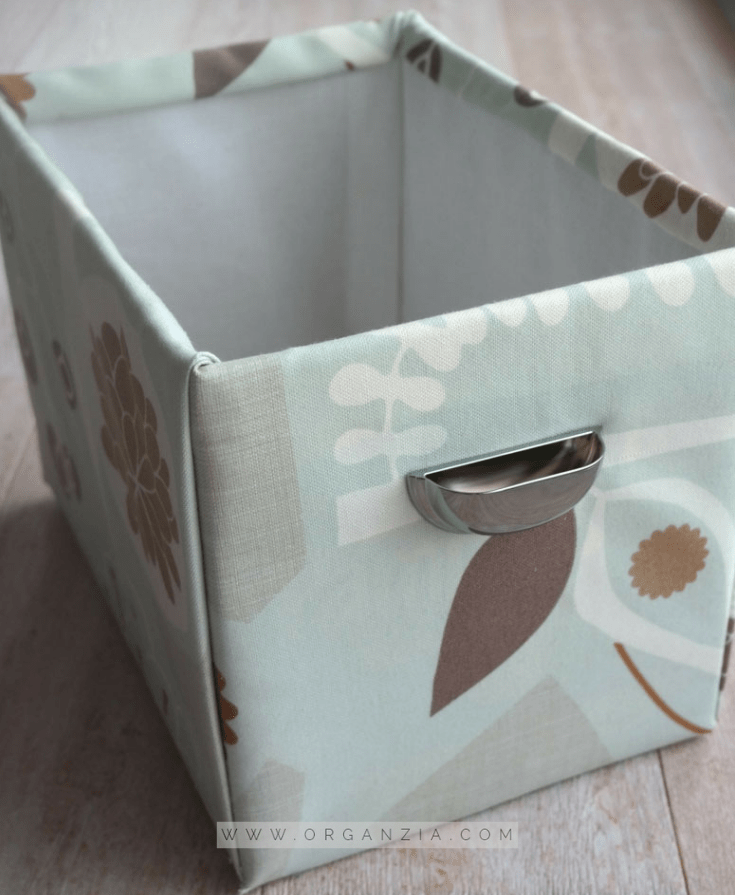 DIY Fabric Basket tutorial - diaper box