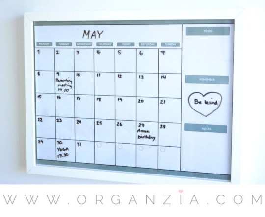 DIY: Monthly planner + free printable