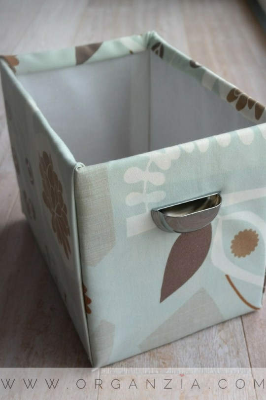 DIY Fabric basket from an old diaper box
