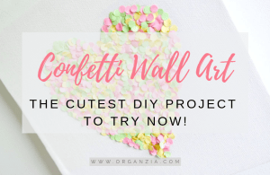 DIY Confetti Wall Art
