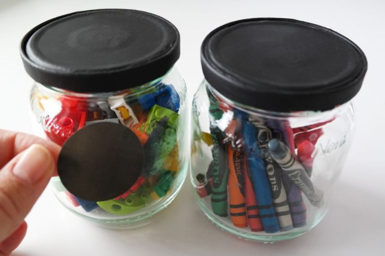 Upcycled glass jars- stickers