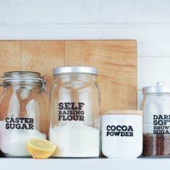 Kitchen Jar Labels -4 jars