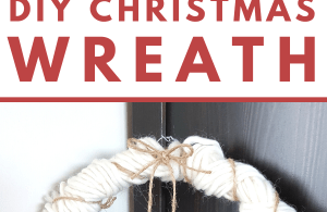 DIY Christmas Wreath - How to make a simple Christmas Wreath