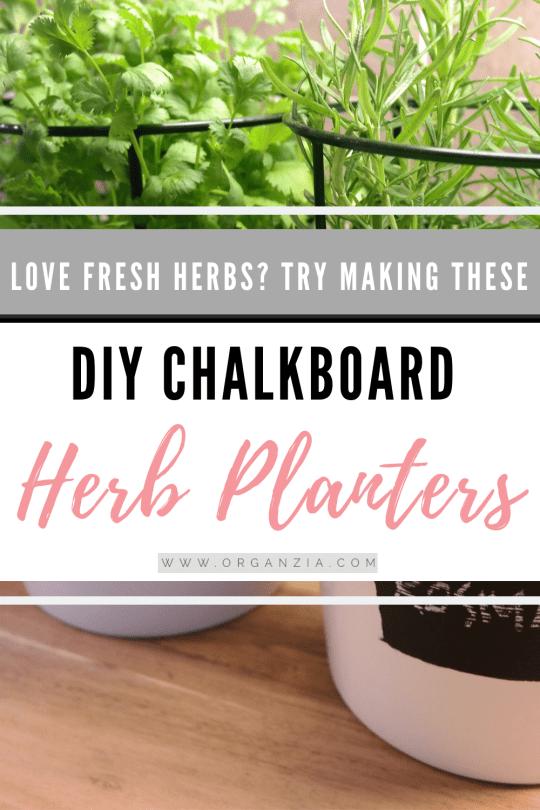 Chalkboard Herb Pot Planters