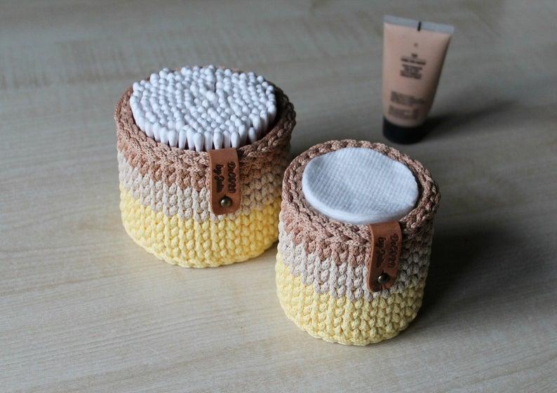 Bathroom Organizer crochet set