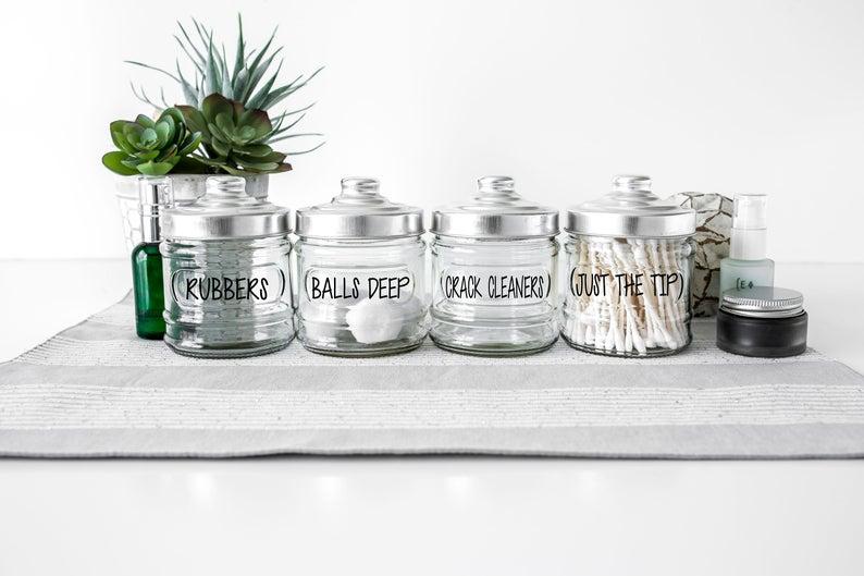 Funny Bathroom storage - bathroom vanity organizers set