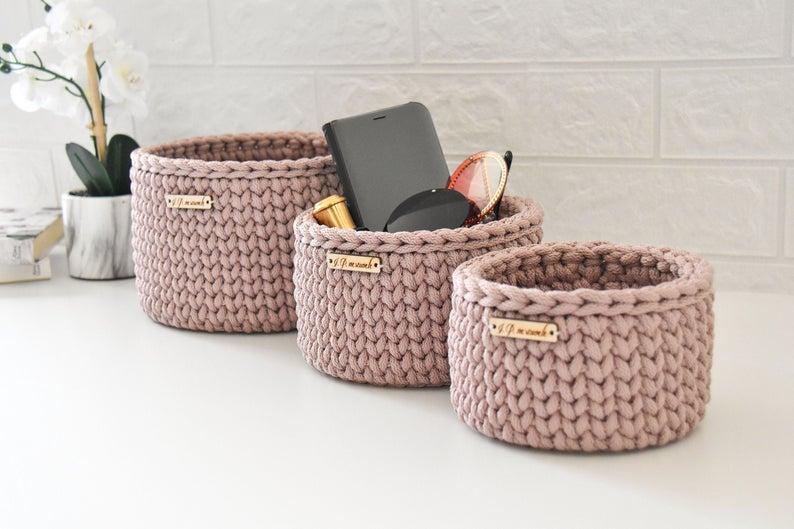 Crochet Basket organizers