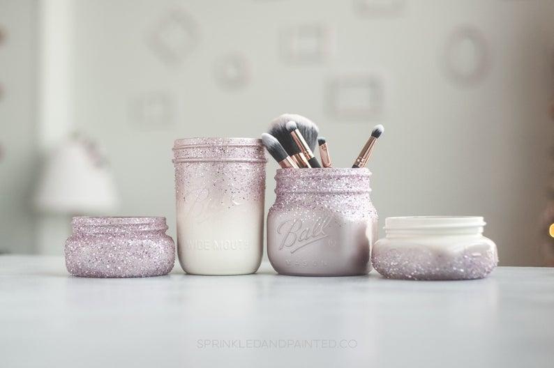 Glitter organizer set - jar set