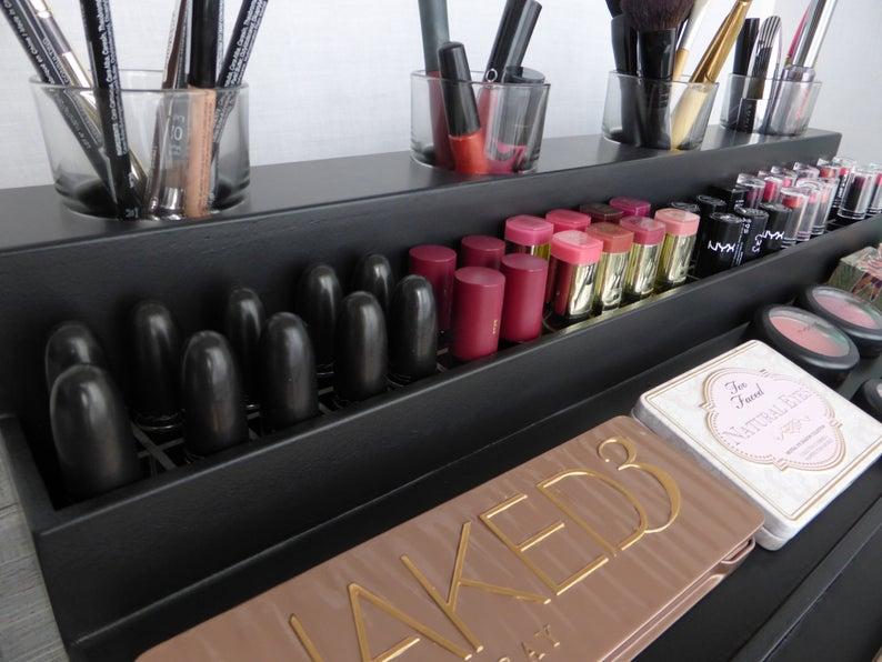 Makeup Bathroom Vanity Organizers - Black