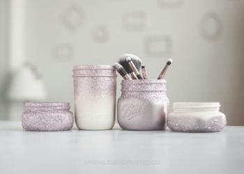 Bathroom- mason jar - organizer