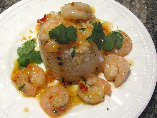 sweet chilli prawns