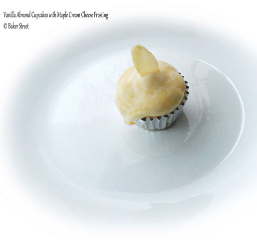 Vanilla-Almond Cupcakes with Maple Frosting by Bakerstreet.tv