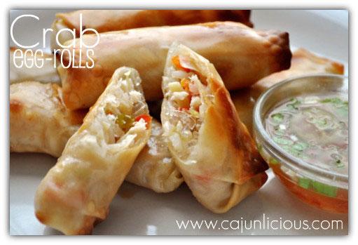 Crabb Eggrolls by Cajunlicious.com