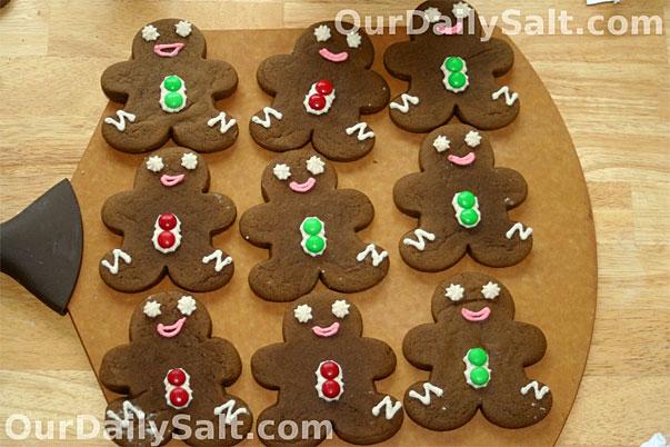 gingerbread men by Chef Felisha at ourdailysalt.com