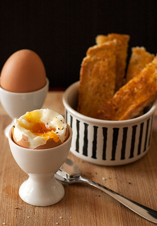 Soft Boiled Eggs and Toast Soldiers