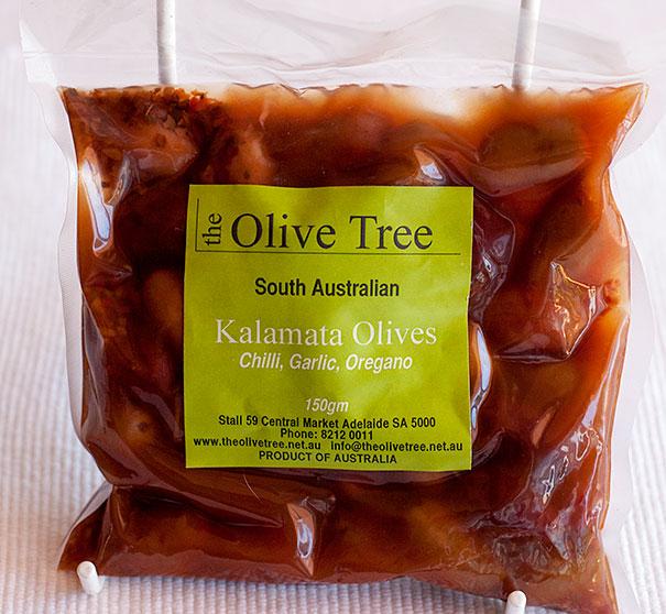 Olive Tree Kalamata Olives with chilli, garlic and oregano