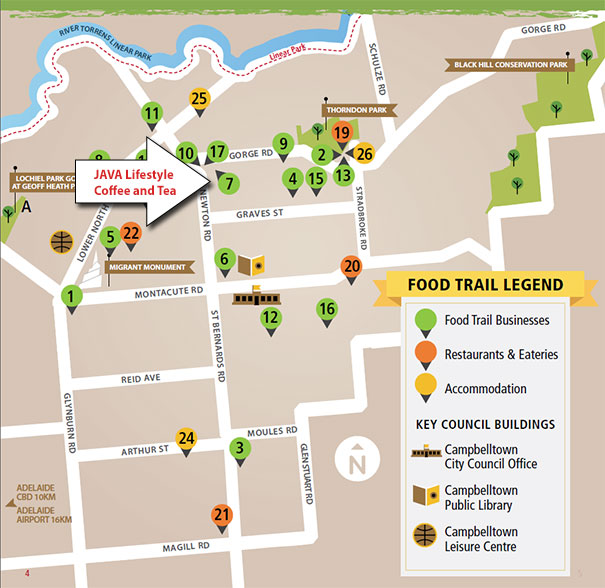 Campbelltown Food Trail Map