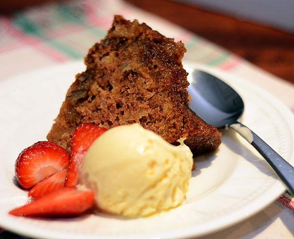 Apple Cake with Buttermilk Sauce