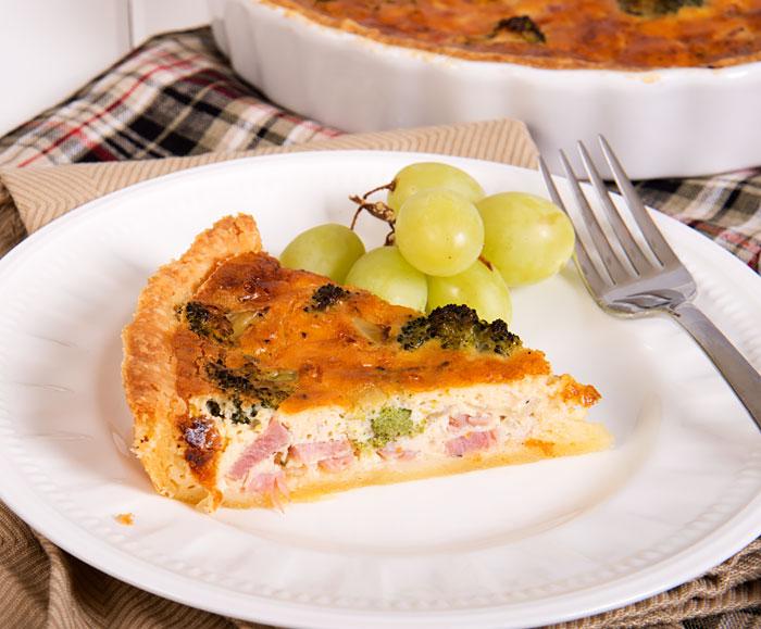 Ham, Broccoli and Cheese Quiche