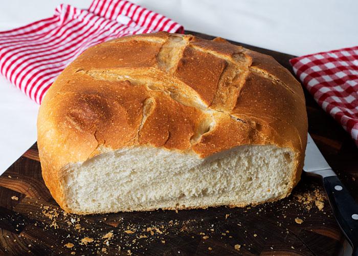 Sourdough Bread Baked in a Pot