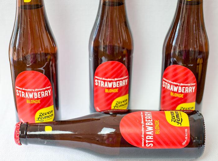 Strawberry Blonde beer from Zeven Lemon