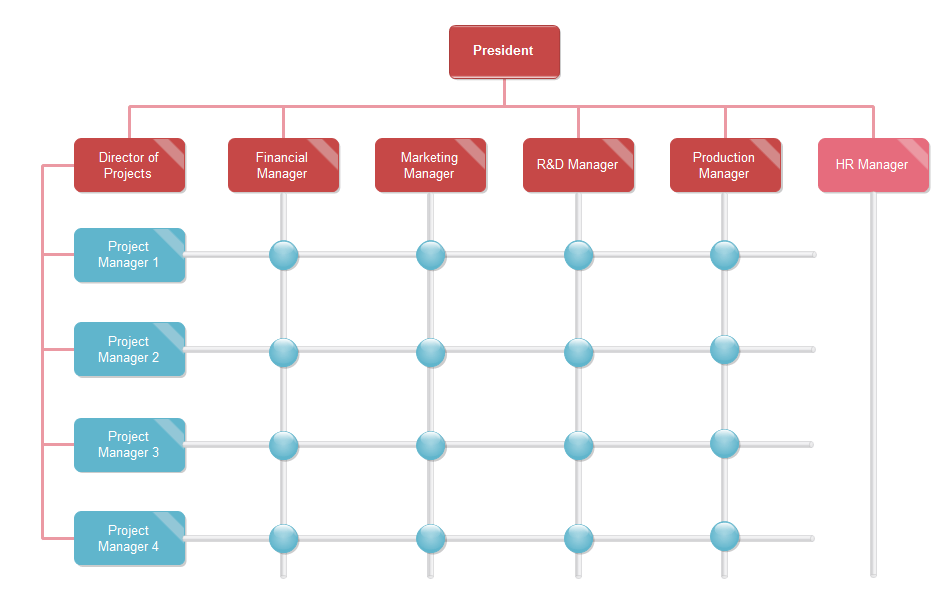 Use this template to identify areas for improvement by following your company's linear process. Matrix Org Chart Templates Org Charting