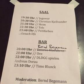 Setlist: tapete Records im Knust
