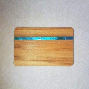 Image of an Paua and Wood WoodenBetOnIt Card