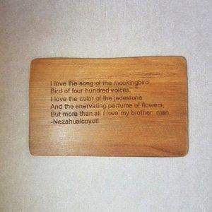 Image of an Amo el canto de cenzonitle WoodenBetOnIt Card