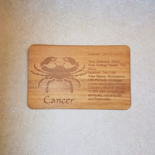 Image of a Cancer WoodenBetOnIt Card