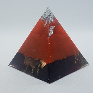 Burnt Island Orgone Orgonite Pyramid 5cm