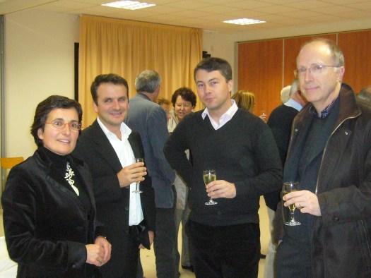 Florence Ladmirault, Paul-Ronan Ladmirault, Grégoire Leblond (Maire de Chantepie) et Yvon Bréhu (Président des Amis de l'Orgue)