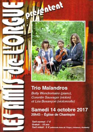 Affiche du concert Maïandros