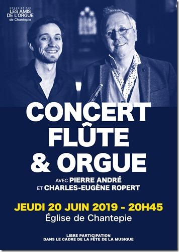 Affiche Flûte et Orgue 2019