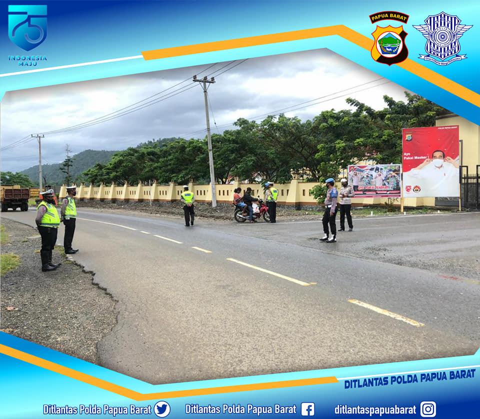 Aktifitas didepan gedung Polda Papua Barat. Dok: Ditlantas Polda Papua Barat
