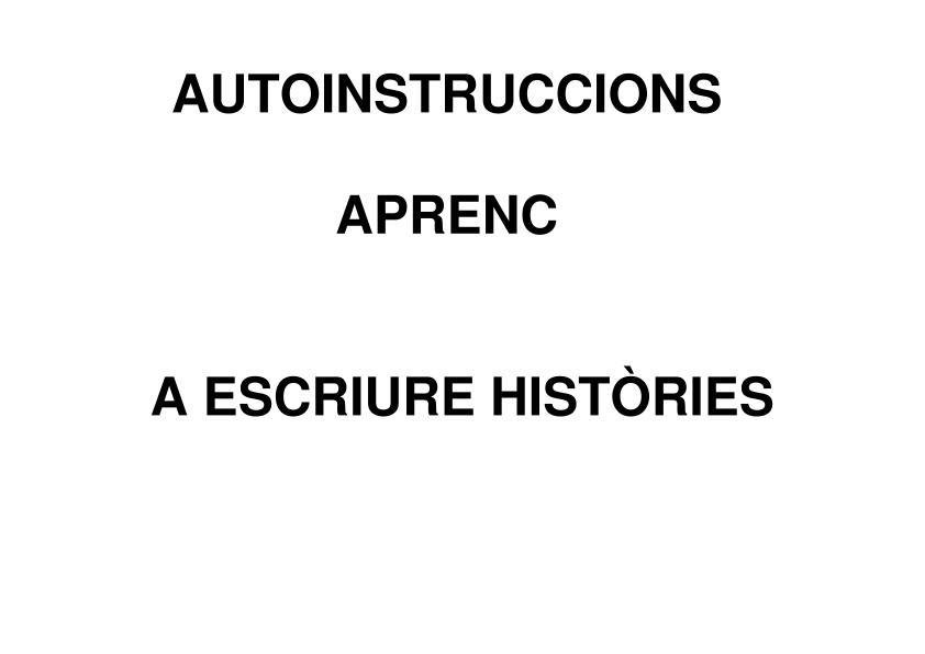 Autoinstrucciones para escribir historias y resolver