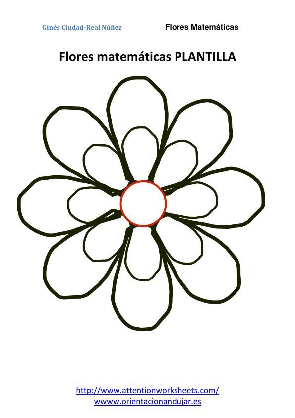IMAGEN flores matematicas 1 flor PLANTILLA