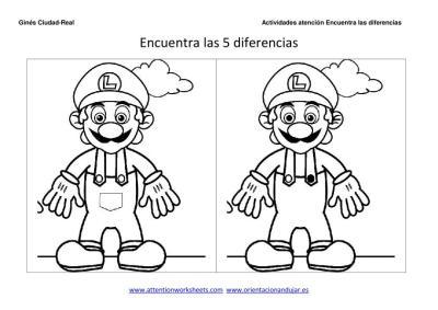 Encuentra Las Diferencias Y Colorea Para Ninos Orientacion Andujar