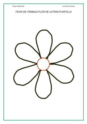 lengua primaria flores de letras