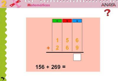 Sumas de 2 sumandos tres cifras CON  llevada