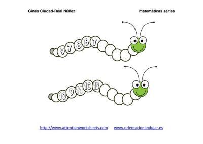 Orugas matemáticas series NUMÉRICAS IMAGENES_10